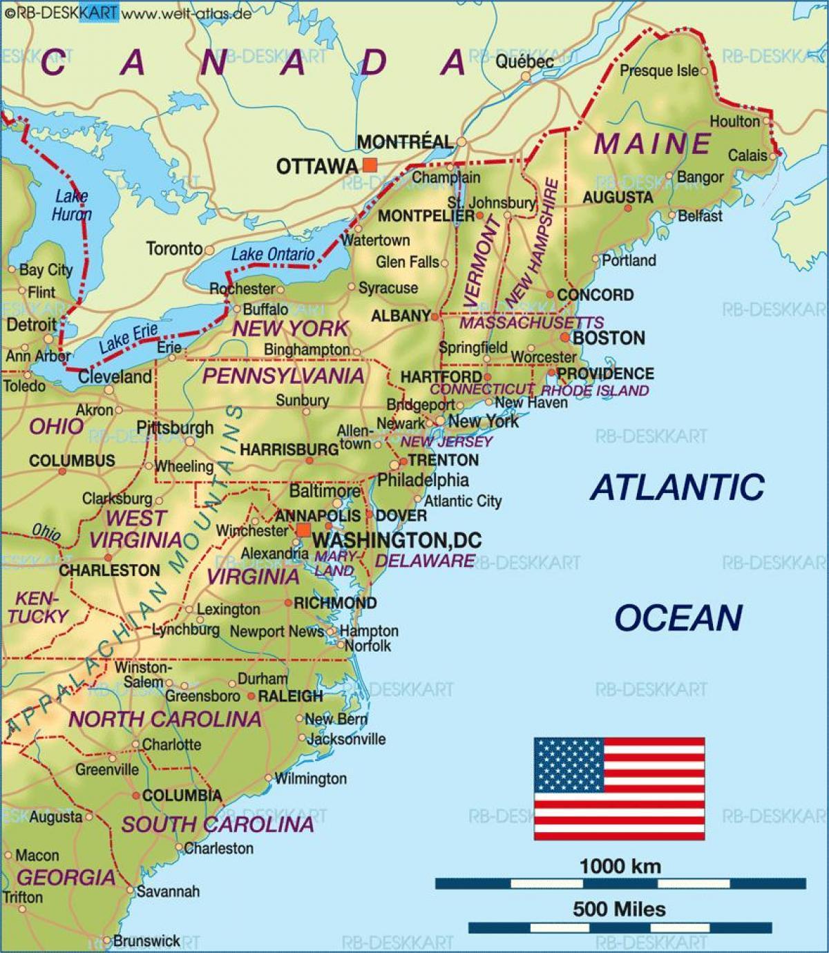 Boston Bandarikin Kort Boston A Okkur Kort Bandarikin
